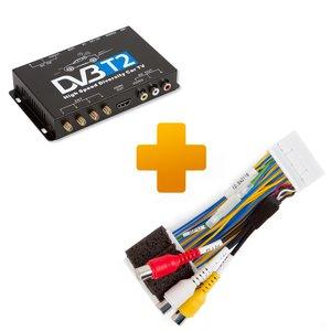 Цифровой тюнер DVB-T2 и кабель подключения для мониторов Toyota Touch 2 / Entune