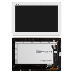 LCD for Asus MeMO Pad 10 ME102A Tablet, (white, with touchscreen, with frame) #B101EAN01.1/MCF-101-1856-01-FPC-V1.0