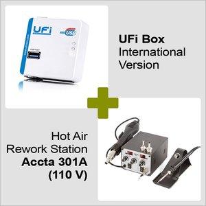 UFI Box International Version + Hot Air Rework Station Accta 301 (110V)