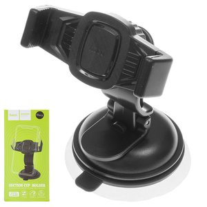 Car Holder Hoco CA40, (black, suction cup)