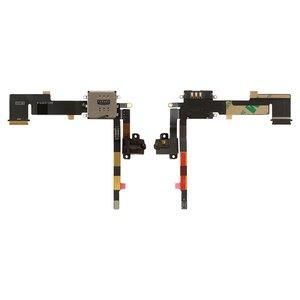 Cable flex para tablet PC Apple iPad 2, tarjeta SIM del conector, de conector de auriculares, con componentes, (versión 3G)