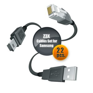 Juego de cables para servicio de celulares Samsung con ayuda de Z3X-Box (22 uds.)