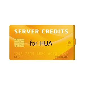 Créditos del servidor Hua