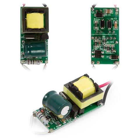 Драйвер лампи, з димером 5 7Вт 85V 265V 50 60Hz з гальванічною розв'язкою, без корпуса