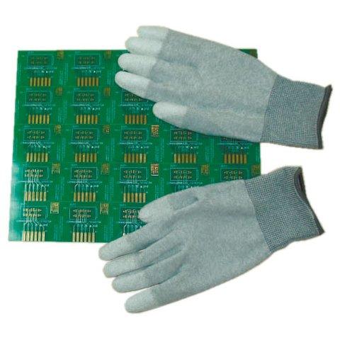 Антистатичні рукавиці Maxsharer Technology C0504-S з поліуретановим покриттям пальців