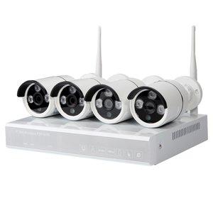 Комплект: мережевий відеореєстратор MIPCK0420 та 4 безпровідних IP-камер спостереження (720p, 2 МП)