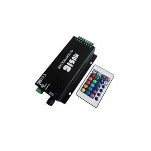 LED Sound Controller with IR Remote Control HTL-031 (RGB, 5050, 3528, 144 W)